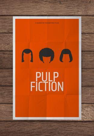 Minimalist Poster: Pulp Fiction