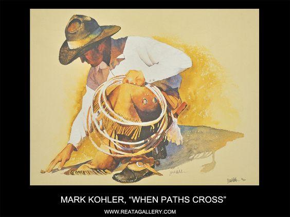 """Western Art by Mark Kohler, """"When Paths Cross"""""""