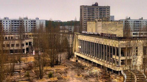 The abandoned city of Chernobyl, Russia.