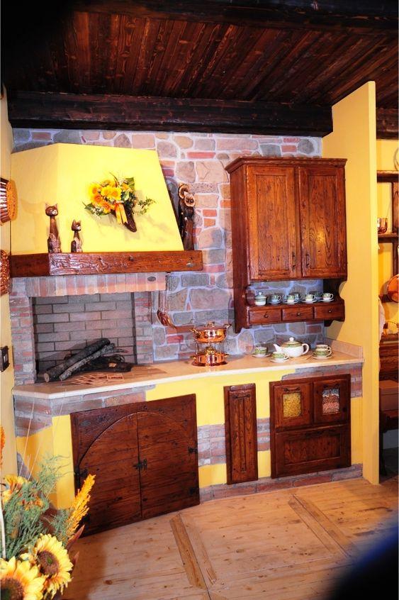 Caminetti cucine piani lavoro mobili da cucina realizzati artigianalmente con materiali di - Piani cucina materiali ...