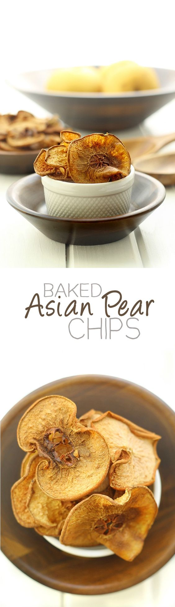 Baked Asian Pear Chips - a sweet and crunchy Fall snack with no dehydrator required! // thehealthymaven.com #healthy #recipe