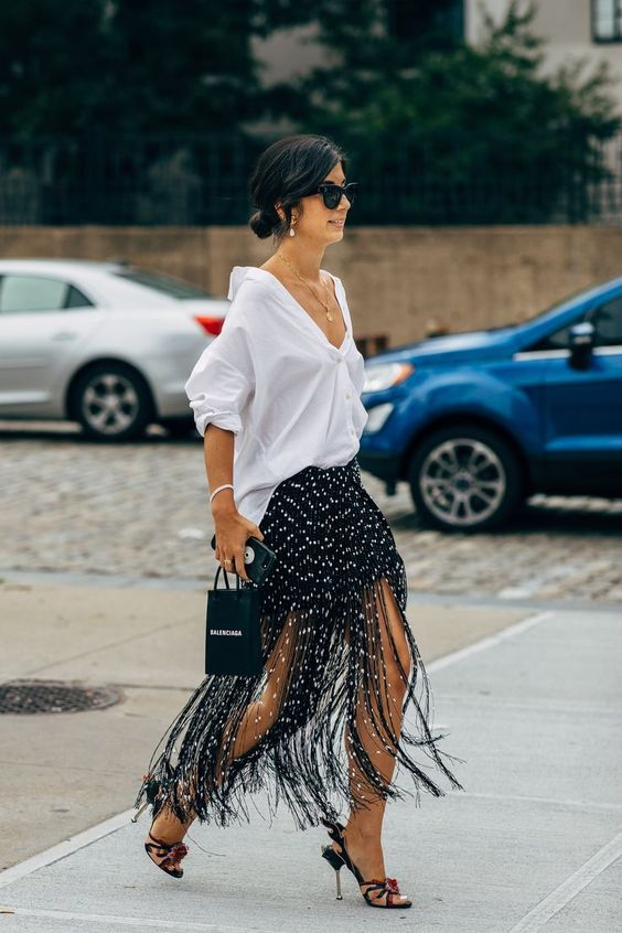 Fringe skirt trends for 2020