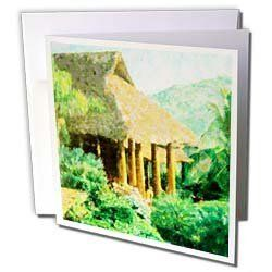 Florene Impressionism - Paradise Tropic Style - Greeting Cards-6 Greeting Cards with envelopes by 3dRose. $10.49. Paradise Tropic Style Greeting Card is measuring 5.5w x 5.5h. Greeting Cards are sold in sets of 6 or 12. Give these fun cards to your friends and family as gift cards, thank you notes, invitations or for any other occasion. Greeting Cards are blank inside and come with white envelopes.. Save 28% Off!