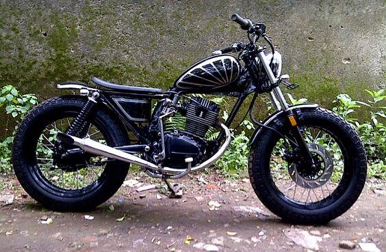 Honda Gl Pro Bratstyle Indonesian West Java Victorious Custom Works