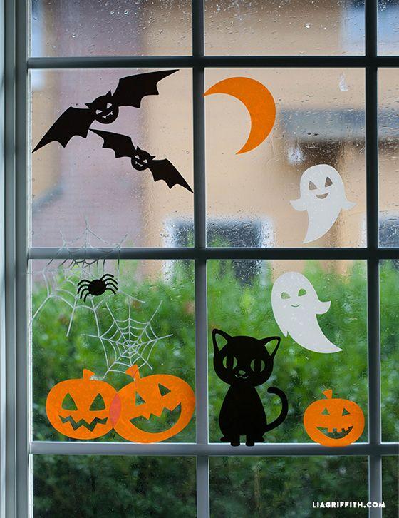Halloween Window Clings   Win a Set of Cricut Cling Material