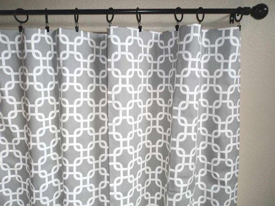 Geometric Curtains Beauty Interior Ideas