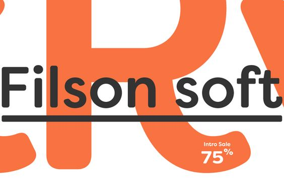 Filson Soft Font Family. Intro Sale 75% OFF by Mostardesign Type Foundry
