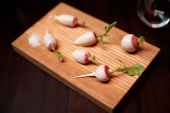 Chef Daniel Humm's butter-cloaked radishes from Bon Appetit