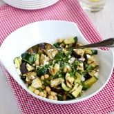 & Zucchini Salad Recipe with Feta, Chickpeas & Mint | Recipe | Salad ...