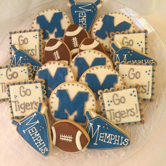 Memphis Tigers Football Cookies!