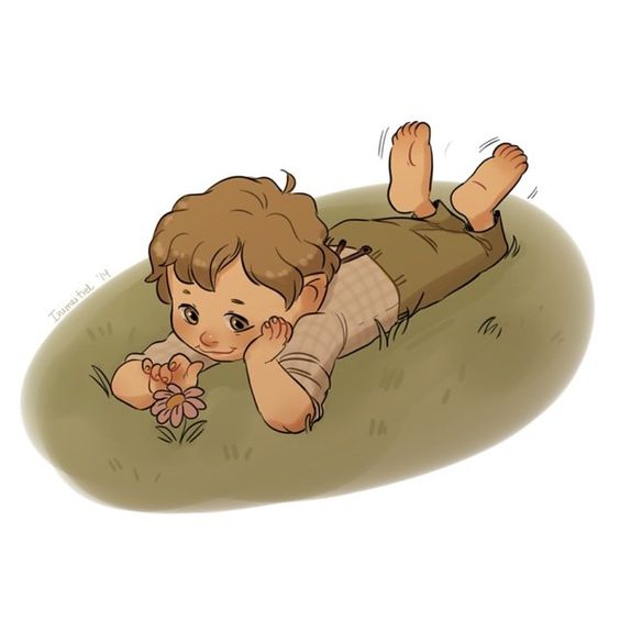 The Battle of the five Armies countdown - day 11 of 30 Super quick doodle of a baby Samwise Gamgee. #art #drawing #doodle #thehobbit #hobbitcountdown #samwisegamgee #lordoftherings #lotr #sam #tolkien