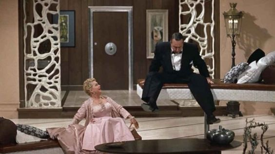my FAVORITE scene in #auntieMame- one day I WILL have these couches for unsuspecting guests!!!:
