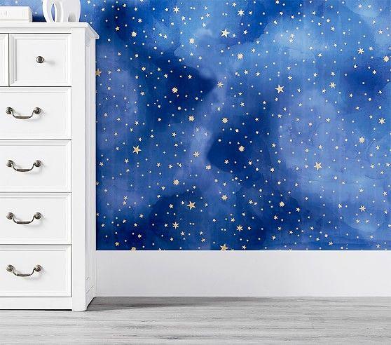 Starry Peel Stick Wallpaper Peel And Stick Wallpaper Kids Wall Murals Baby Room Decor