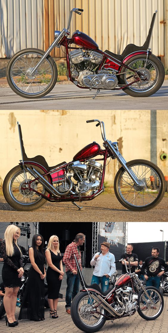 Thunderbike customized Harley-Davidson Panhead by Andreas Bergerforth