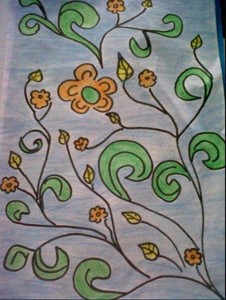 Terbaru 30 Contoh Gambar Ilustrasi Bunga Yang Mudah Digambar Gambar Batik Bunga Yang Mudah Di Gambar Harian Nusantara Download 30 Gamb Di 2020 Sketsa Gambar Bunga