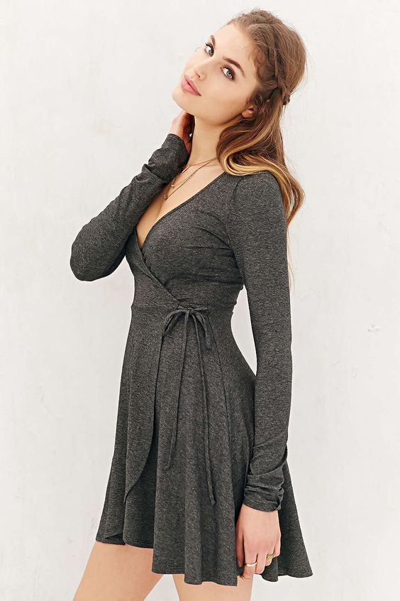 Kimchi Blue Surplice Wrap Dress - Urban uutfitters- I love and ...