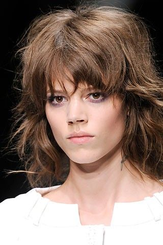 """Freja Beha Erichsen's """"shag for 2011."""" It was the inspiration for my last three hair cuts, and I still love it. Although, it's starting to look a little square for my taste at the top... looks-i-love"""