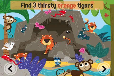 Aventura en la selva, una app completa con mucho colorido. Anglès