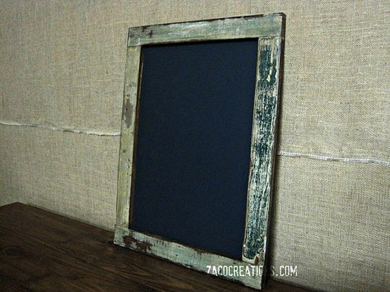 Large Framed Chalkboard made from Reclaimed Wood  by ZacoCreations, $45.00