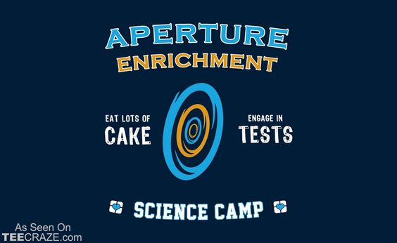 Aperture Science Camp T-Shirt Designed by thehookshot