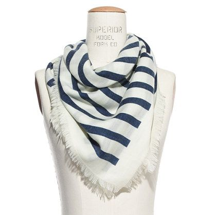 super cute sailor stripe scarf from madewell