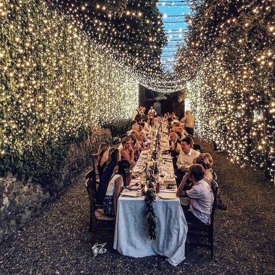sky full of stars ✨😍Beautiful wedding reception by @italian_eye_events @italian_eye