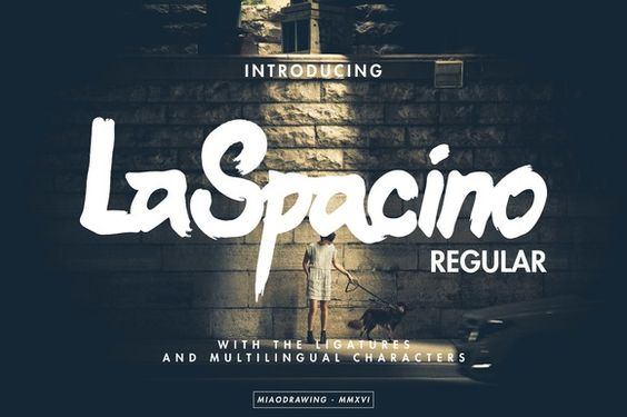 LaSpacino Typeface by MIAODRAWING on @creativemarket