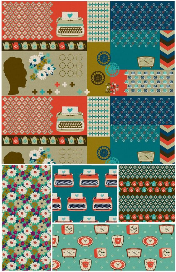 i'm going to start saving my money now, i NEED THIS LINE IN ALL 3 COLOURWAYS. it's TYPEWRITER FABRIC PEOPLE. god, i love melody miller's designs.