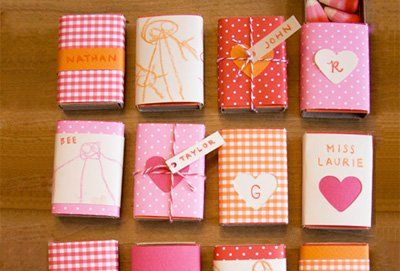 20 Homemade Valentine's Day Cards for Kids I DIY Valentine Ideas for Kids - Matchboxes