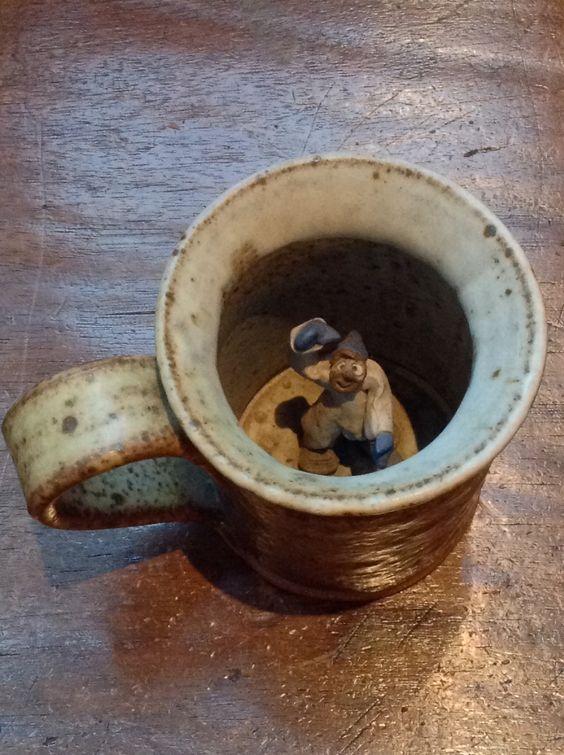 Ceramic Mug with Skier