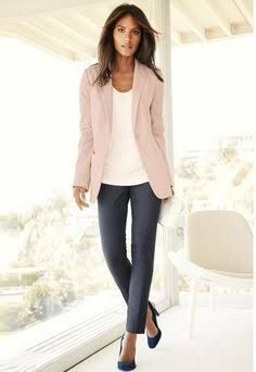 womens light pink blazer outfit - Google Search … | Pinteres…