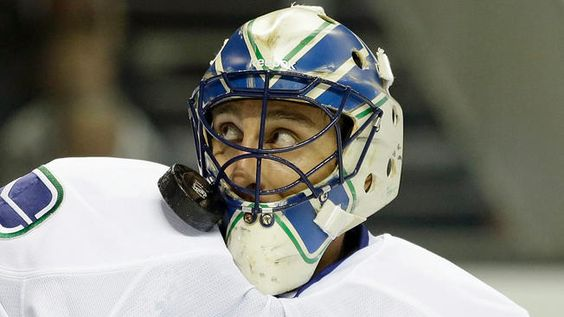 Luongo gets close with the puck.