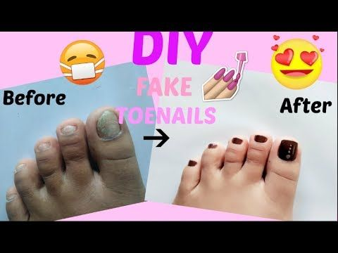 Diy Fake Toenails Pedicure At Home Quick Cheap Easy No Acrylic My First Youtube Video Youtube Fake Toenails Toe Nails Pedicure At Home