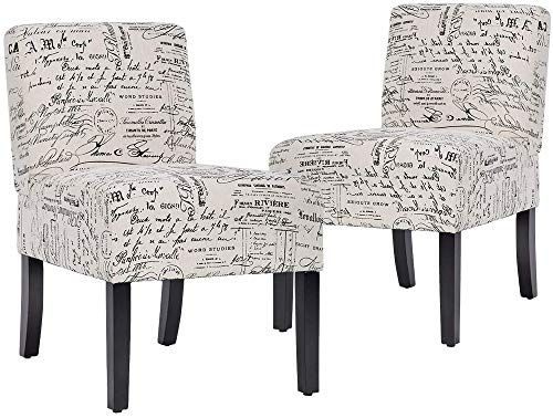 The Perfect Accent Chair Armless Chair Dining Chair Set Of 2 Elegant Design Modern Fabric Liv In 2020 Living Room Chairs Fabric Dining Chairs Comfortable Accent Chairs