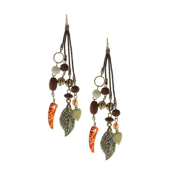 Cluster Charm Drop Earrings