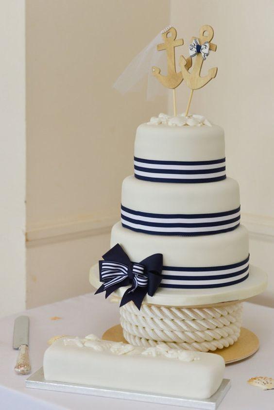 Anchors Away wedding cake topperAnchorsboat by MorganTheCreator, $28.00