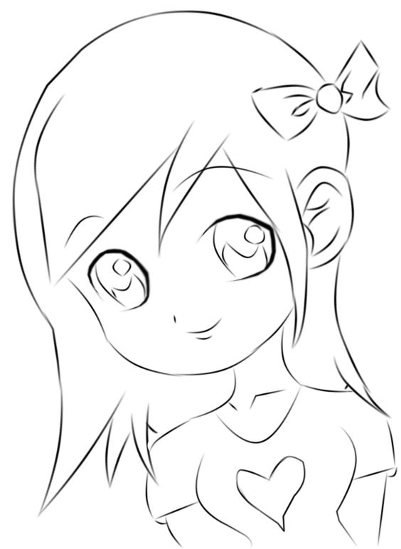 Chibi Easy To Draw And Easy Drawings On Pinterest Simple Anime Coloring