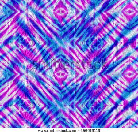 tie & dye pattern, seamless diagonal checks motif. layered neon colors, hand dyed.