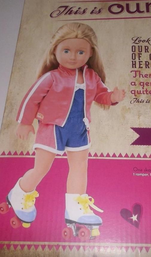 """Our Generation doll Retro Roller Disco outfit and skates  fits 18"""" doll  Julie…"""