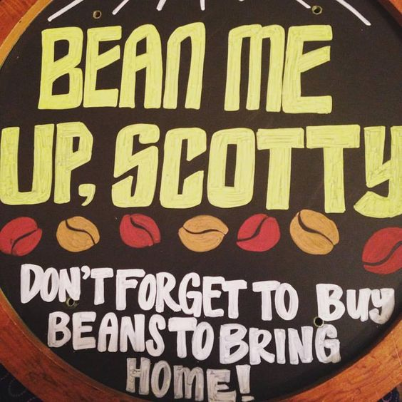 Bean Me Up, Scotty Dragon Con chalk board 2015