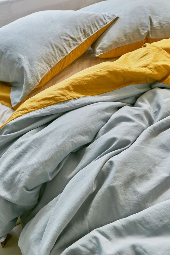 What Is A Duvet Yellow Duvet Duvet Covers Yellow Small Room Bedroom
