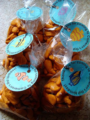 Goldfish Favors