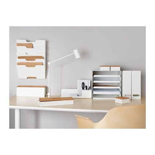 Kvissle Magazine File Set Of 2 White Ikea Desk Organization Ikea Modern Desk Ikea