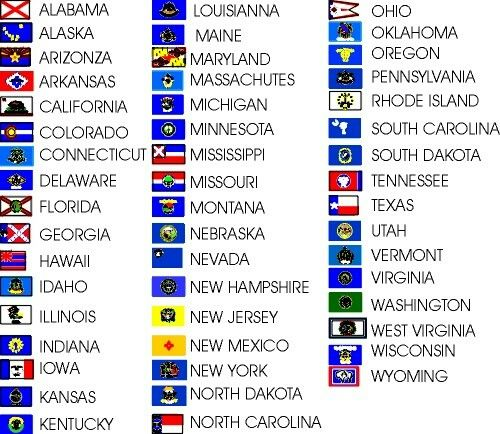 Fifty States Image By Thiya On Salecs States In Usa Us States Flags