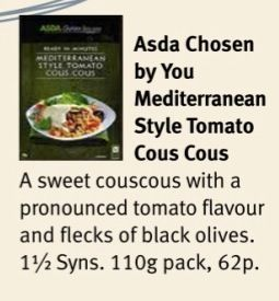 Asda Chosen by You Mediterranean Style Tomato Cous Cous