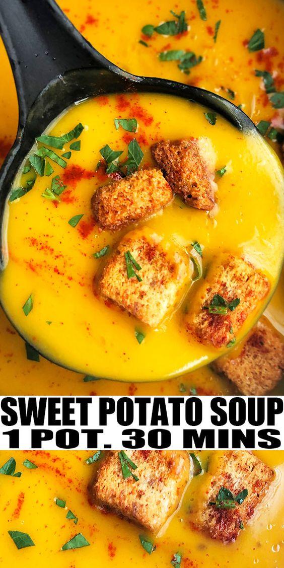 Sweet Potato Soup (One Pot)