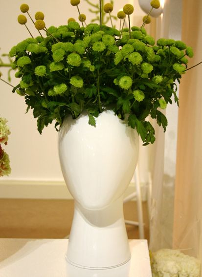 Tania da Cruz head vase: Ceramic Sculpture, Objects Highlight, Head Vases, Flower Art, Flower Head, V Art, Cruz Head