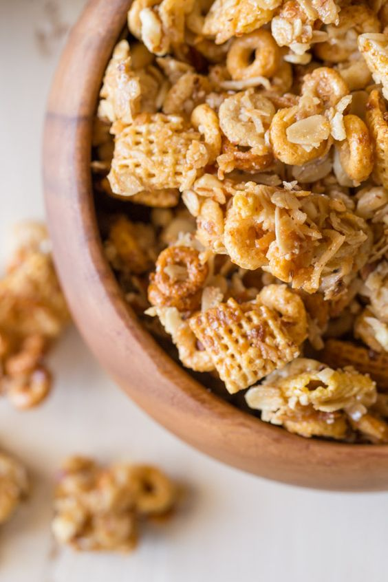 Healthier Coconut Almond Chex Mix | Recipe | Chocolate ...