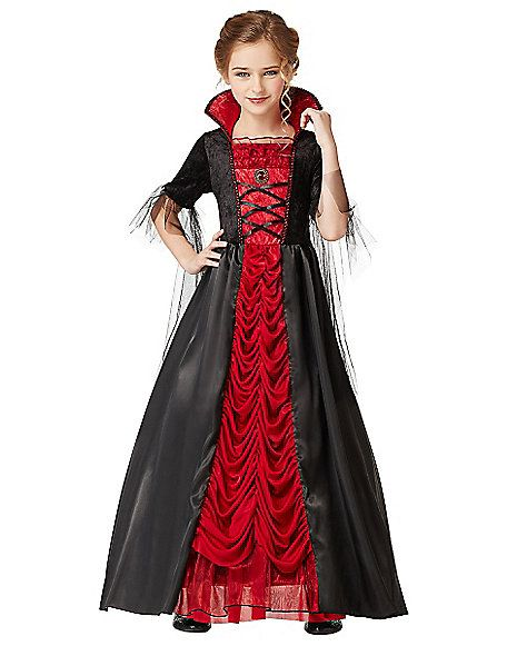 Victorian Vampiress Girls Costume - Spirithalloween.com - Sam's choice