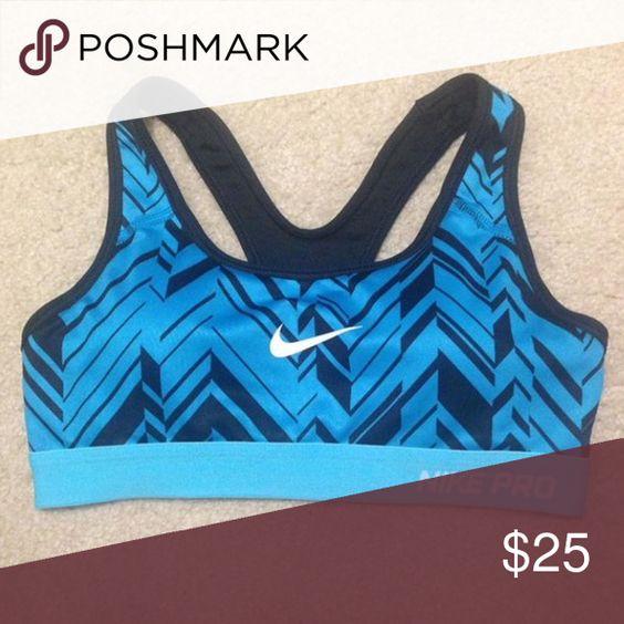 Nike pro sports bra Blue pattern nike pro sports bra. Size adult XS Nike Other